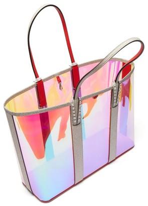 Christian Louboutin Cabata Spike-embellished Iridescent-pvc Tote - Clear Multi