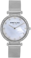 Kenneth Cole New York Women's Mother of Pearl Dial Mesh Strap Watch, 36mm