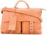 Marsèll buckled satchel - women - Linen/Flax/Leather/Metal (Other) - One Size