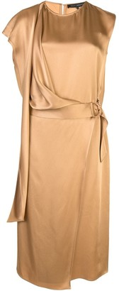 Sally LaPointe draped midi dress