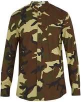Givenchy Cuban-fit camouflage-print cotton-poplin shirt