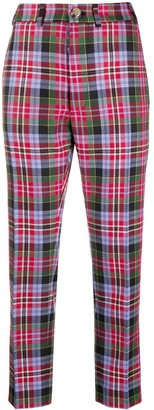 Vivienne Westwood Check-Pattern Cropped Trousers