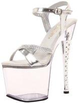 Pleaser USA Women's Diamond-715/S/C Platform Sandal