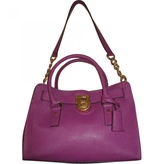 MICHAEL Michael Kors Purple Leather Handbag