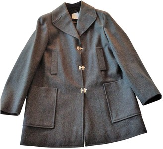 Celine Grey Wool Coat for Women Vintage