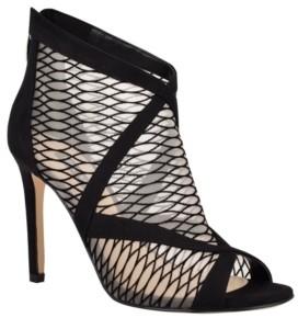 Nine West Ira Women's Mesh Peep Toe Booties Women's Shoes