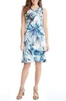 Karen Kane Women's Tropical Print A-Line Dress