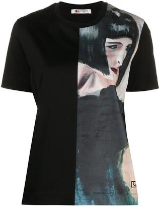 Ports 1961 portrait-print short sleeved T-shirt