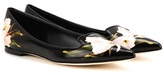 Dolce & Gabbana Printed Leather Ballerinas