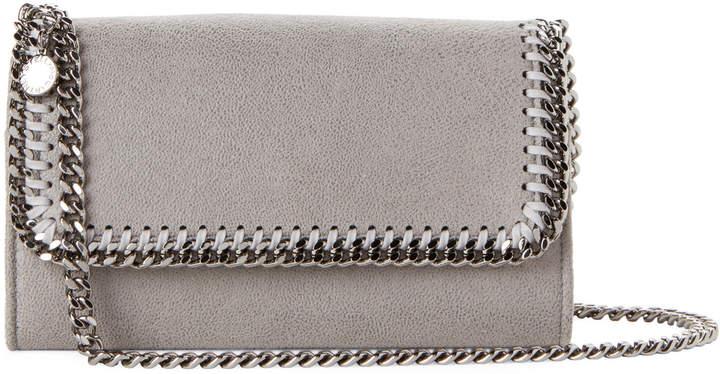 Stella McCartney Grey Falabella Shaggy Deer Chain Wallet