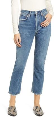 AGOLDE Riley High Waist Crop Straight Leg Jeans