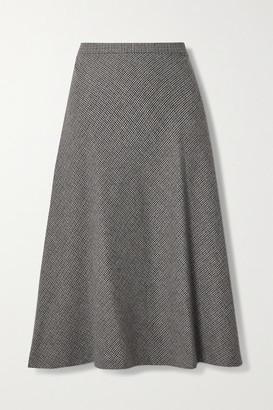 Nili Lotan Alvina Houndstooth Wool-blend Skirt - Gray