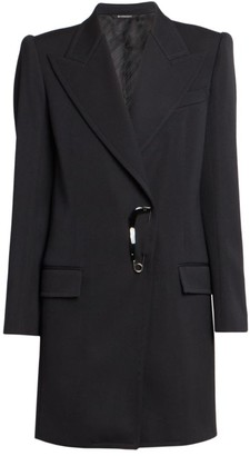 Givenchy Fitted Safety Pin Wool-Blend Coat