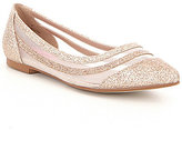 Betsey Johnson Annette Glitter Mesh Slip-On Flats