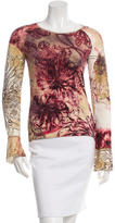 Just Cavalli Floral Long Sleeve Top