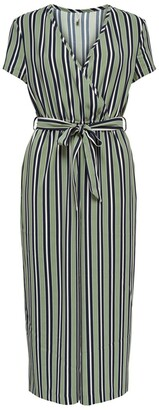 Only Striped Short-Sleeved Jumpsuit