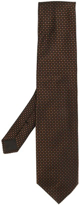 Tom Ford Woven Effect Geometric Print Tie