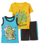 Children's Apparel Network TMNT Yellow & Blue Tank Set - Toddler