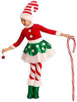 Asstd National Brand Girls Candy Cane Elf Princess Costume