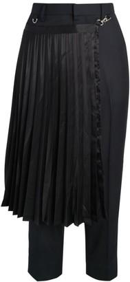 Noir Kei Ninomiya Wool Pants With Removable Pleated Kilt