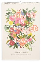 Rifle Paper Co. 2018 Floral Quote Wall Calendar - Green