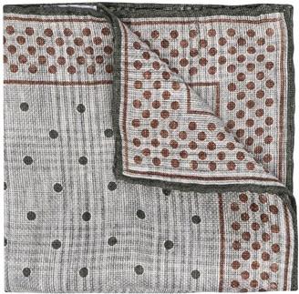 Brunello Cucinelli Multi-Print Pocket Square
