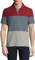 Original Penguin Short-Sleeve Colorblock Polo Shirt, Red/Gray