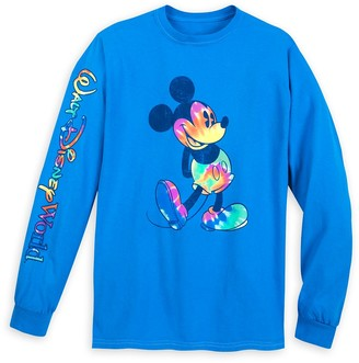 Disney Mickey Mouse Long Sleeve Tie-Dye Print T-Shirt for Adults Walt World