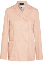 Isabel Marant Nessa Double-breasted Linen-blend Blazer - Pastel pink