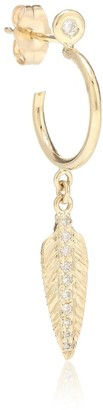 Jacquie Aiche Exclusive to Mytheresa Feather 14kt gold and diamond earring
