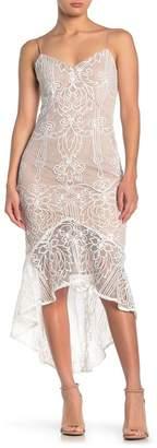 Do & Be Do + Be V-Neck Sleeveless Lace Mermaid Dress