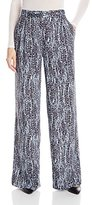 BCBGMAXAZRIA Women's Jaques Printed High Waisted Wide Leg