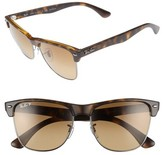 Ray-Ban Women's Clubmaster Flash 57Mm Polarized Sunglasses - Havana/ Gradient