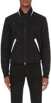 Just Cavalli Flocked-leopard cotton-blend bomber jacket