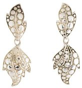 John Hardy Leaf Drop Earrings