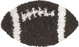 The Rug Market Shaggy Raggy Football Children's Area Shaped Rug, Brown/White