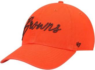 Women's '47 Orange Cleveland Browns Vocal Clean Up Adjustable Hat