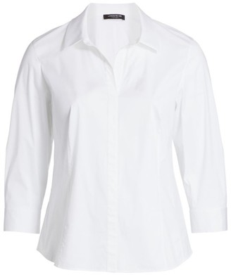Lafayette 148 New York, Plus Size Katherine Collared Blouse