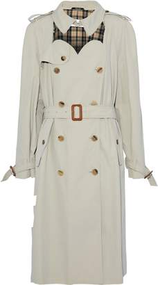 Maison Margiela Double-breasted Cutout Cotton-twill Trench Coat