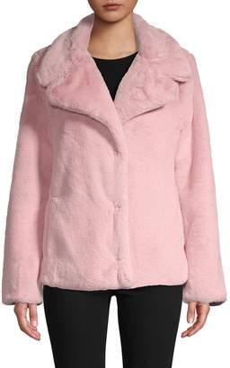AVEC LES FILLES Short Faux-Fur Jacket