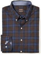 J.Mclaughlin Westend Trim Fit Shirt in Plaid Flannel