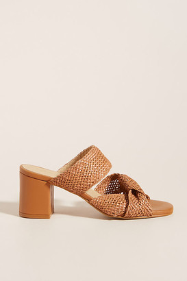 Anthropologie Mae Raffia Heeled Mules By in White Size 36