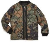 Burberry Little Boy's & Boy's Benjamin Camo Bomber Jacket