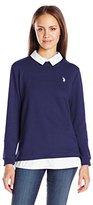 U.S. Polo Assn. Juniors French Terry Pullover 2-Fer Shirt