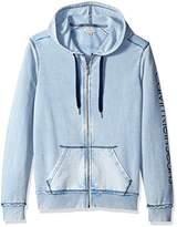 Calvin Klein Jeans Men's Washed Full Zip Hoodie Sweatshirt