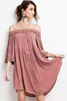 Easel Off Shoulder Swingy-Dress