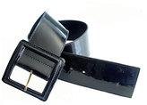 Square Patent Belt in Black