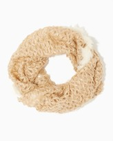 Charming charlie Faux Fur Trimmed Infinity Scarf