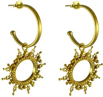 Annabelle Lucilla Jewellery Helios Charm Hoops
