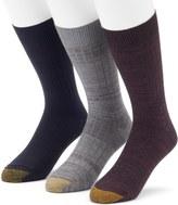 Gold Toe Men's GOLDTOE 3-Pack Johnny Rib Dress Socks